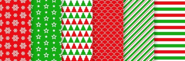 Seamless pattern di natale. illustrazione. carta da regalo festiva.