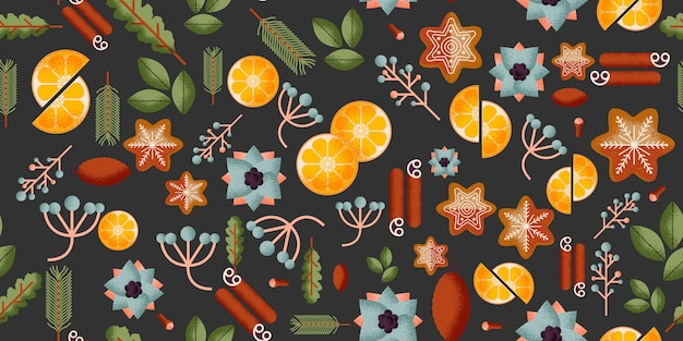 Seamless pattern di natale