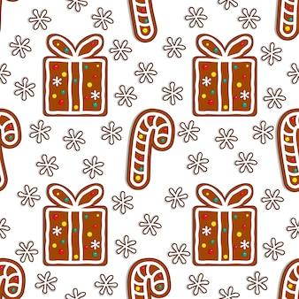 Seamless pattern di pan di zenzero