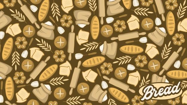 Seamless pattern di pane