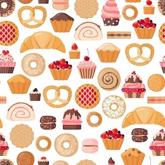 Seamless pattern di panetteria