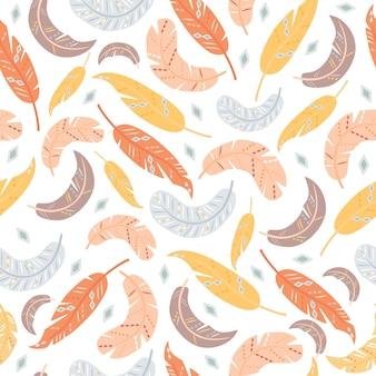Seamless pattern di piume