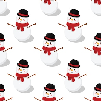 Seamless pattern di pupazzo di neve