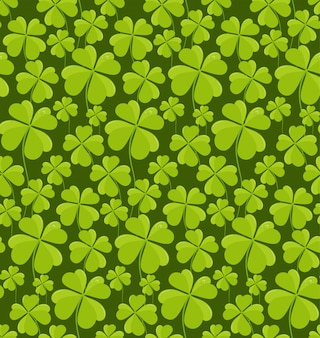 Seamless pattern di trifogli