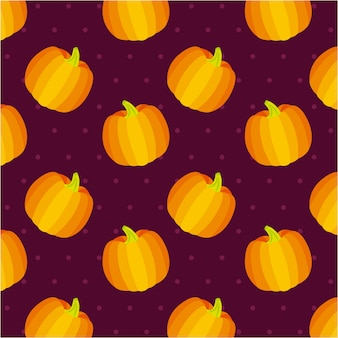 Seamless pattern di zucche