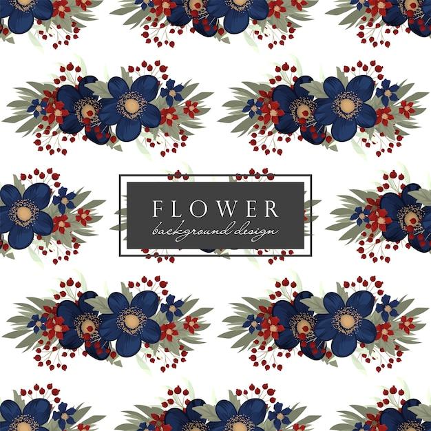 Seamless pattern fiore blu
