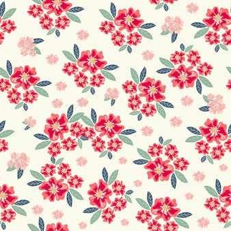 Seamless pattern fiore rosso