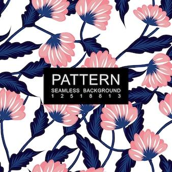 Seamless pattern floreale blu e rosa