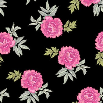 Seamless pattern floreale vettoriale.