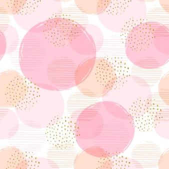 Seamless pattern geometrico astratto con cerchi.