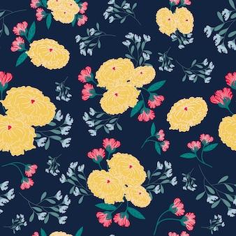 Seamless pattern giallo e rosso