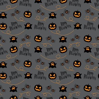 Seamless pattern happy halloween