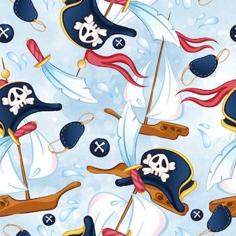 Seamless pattern pirata