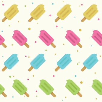 Seamless pattern popsicle in stile piano