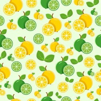 Seamless pattern verde limone e giallo