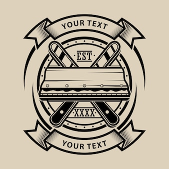 Seccatoio per serigrafia con logo design vettoriale