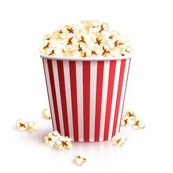 Secchio di popcorn realistico