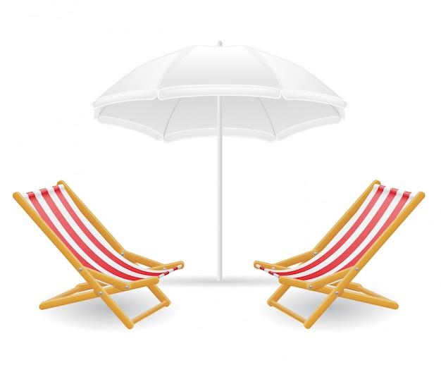 Sedia a sdraio e ombrellone
