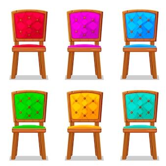 Sedia in legno colorato cartone animato