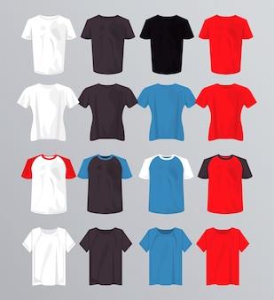 Sedici magliette mockup impostano i colori.