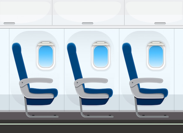 Sedile dell'aereo in cabina