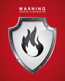 Segnale di avvertenza su rosso