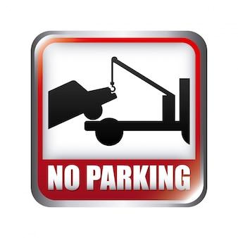 Segnale di parcheggio sopra illustrazione vettoriale sfondo bianco
