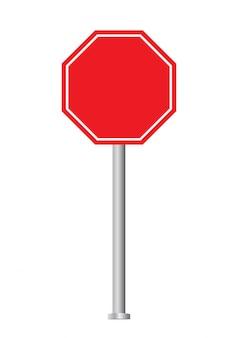 Segnale di stop vuoto.