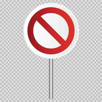 Segnale stradale realistico di vettore limitato traffico isolato. illustrazione della strada di traffico e il simbolo della fermata, avvertimento