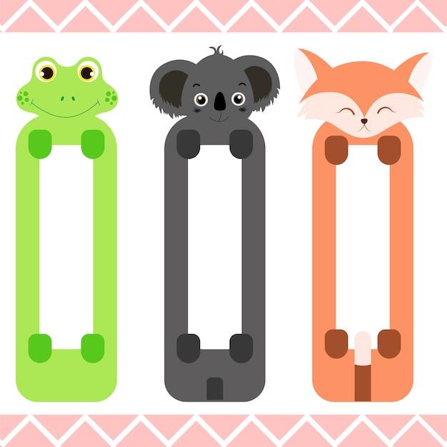 Segnalibri per bambini con simpatici animali
