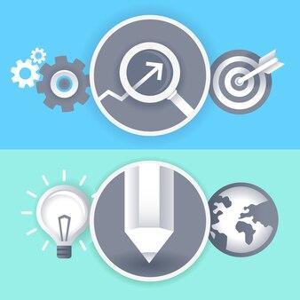 Segni di business e grafica vettoriale