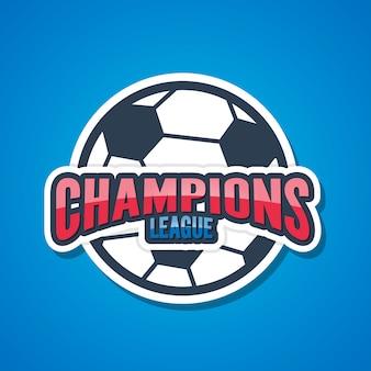 Segni di champions league di calcio.