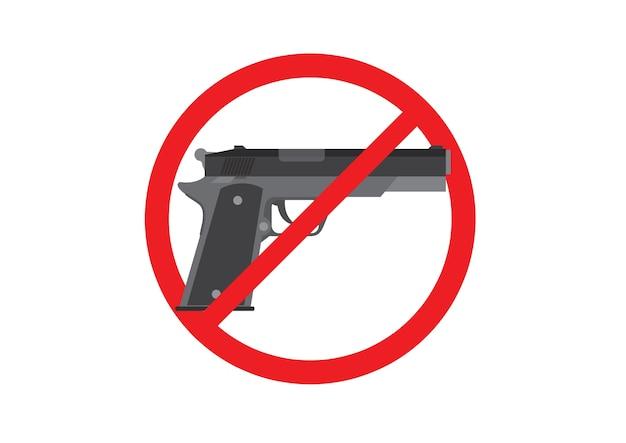 Segni di proibizione della pistola