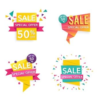 Segni di vendita colorati