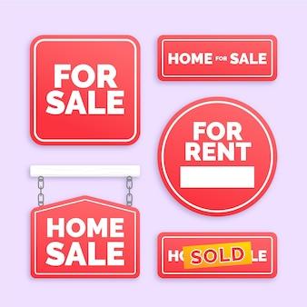 Segni di vendita immobiliare