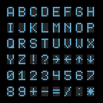 Segni elettronici elettronici del tabellone segnapunti