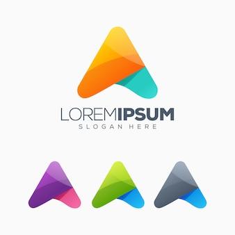 Segni l'illustrazione con lettere di vettore di progettazione di logo