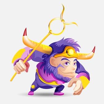 Segni zodiacali - toro. illustrazione colorata. taurus personaggio dei cartoni animati carino. isolato su sfondo bianco stampa design, previsione, oroscopo