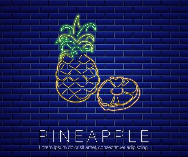 Segno al neon ananas
