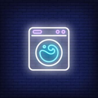 Segno al neon della lavatrice
