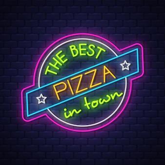 Segno al neon della pizza