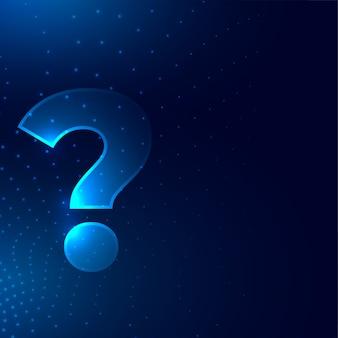 Segno del punto interrogativo su priorità bassa di stile digitale incandescente