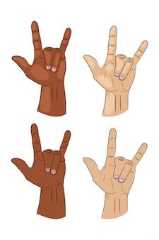 Segno della mano di rock'n'roll