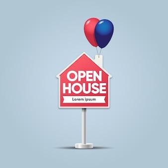 Segno di casa immobiliare