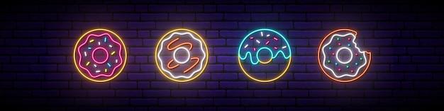 Segno di ciambella al neon.