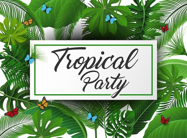 Segno di festa tropicale