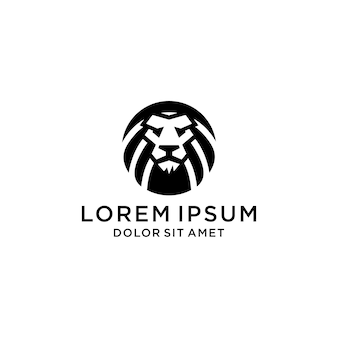Segno di logo icona testa di leone