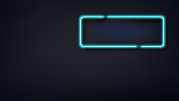 Segno di luce di colore blu