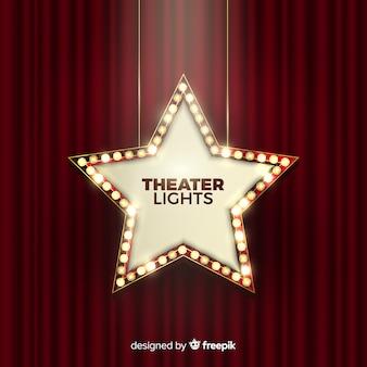 Segno di luci del teatro