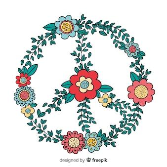 Segno di pace disegnato a mano